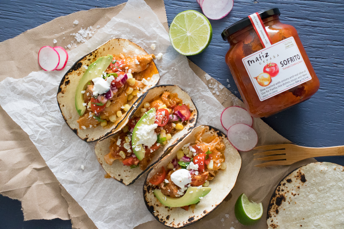 Slow Cooker Sofrito Pulled Chicken Tacos Culinary Collective